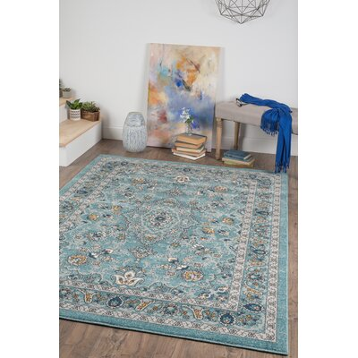 Duanesburg Blue Area Rug Rug Size: 710 x 103