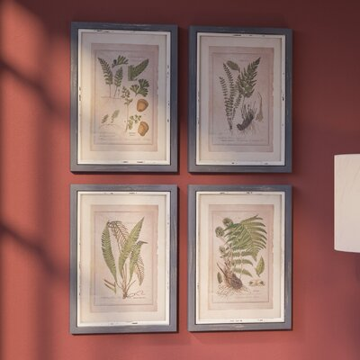 Botanical  Framed Painting Print Set