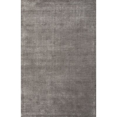 Windridge Hand Woven Silk Gray Solid Rug Rug Size: Rectangle 36 x 56