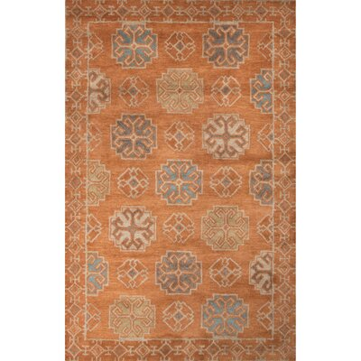 Windward Hand-Tufted Orange/Blue Area Rug Rug Size: 2 x 3