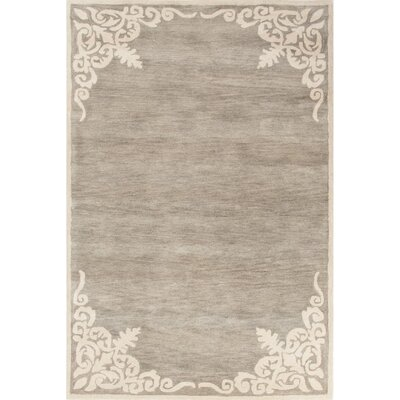 Farnsworth Hand-Tufted Gray/Ivory Area Rug Rug Size: 9 x 12