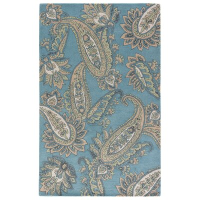 Farnsworth Hand-Tufted Smoke Blue/Candied Ginger Area Rug Rug Size: 2' x 3'