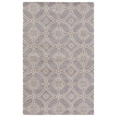 Farnsworth Hand Tufted Wool Frost Gray/Fog Area Rug Rug Size: Rectangle 5 x 8