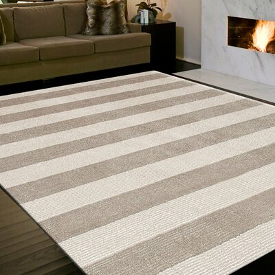 Windridge Gray/Black Stripe Rug Rug Size: 2 x 3