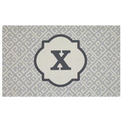 Stroupe Monogram Kitchen Mat Letter: X