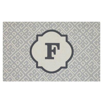 Stroupe Monogram Kitchen Mat Letter: F