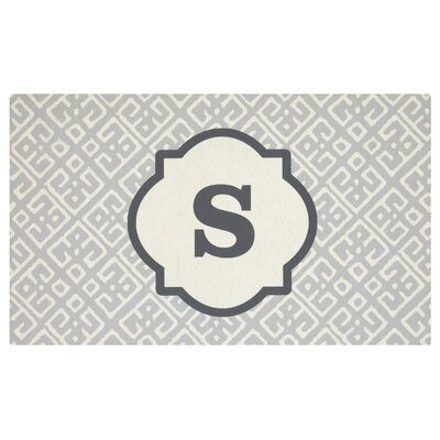 Stroupe Monogram Kitchen Mat Letter: S