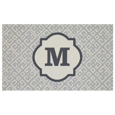 Stroupe Monogram Kitchen Mat Letter: M