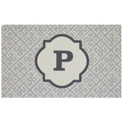Stroupe Monogram Kitchen Mat Letter: P