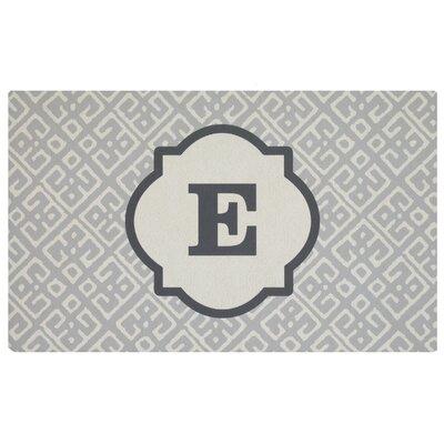 Stroupe Monogram Kitchen Mat Letter: E