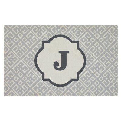 Stroupe Monogram Kitchen Mat Letter: J