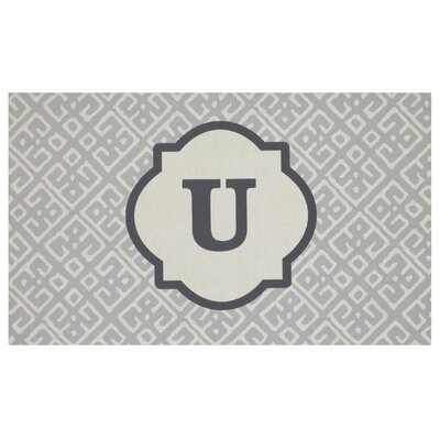 Stroupe Monogram Kitchen Mat Letter: U