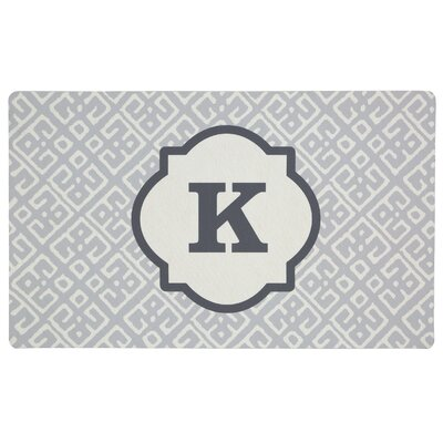 Stroupe Monogram Kitchen Mat Letter: K