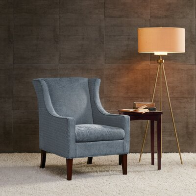 Matherville Wingback Chair Upholstery: Blue
