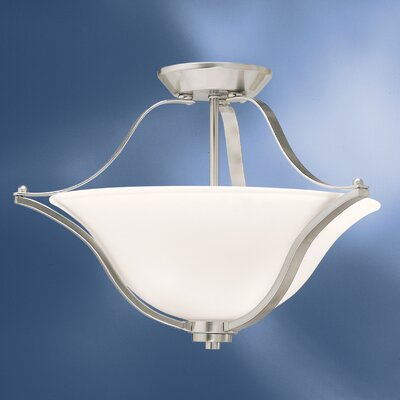 Avilla 2-Light Semi Flush Mount Finish: Brushed Nickel