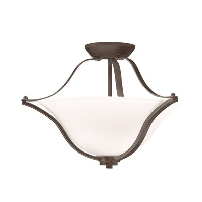 Avilla 2-Light Semi Flush Mount Finish: Olde Bronze