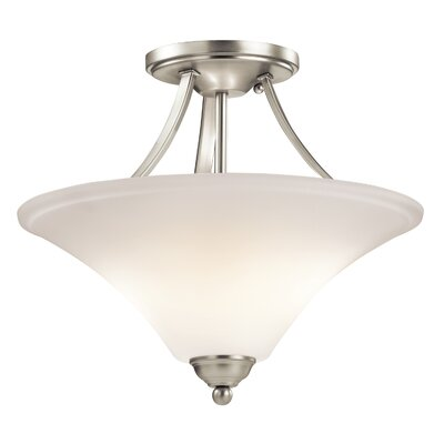 Avery 2-Light Semi Flush Mount Finish: Brushed Nickel