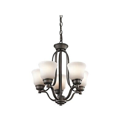 Avilla 5-Light Shaded Chandelier Finish: Olde Bronze