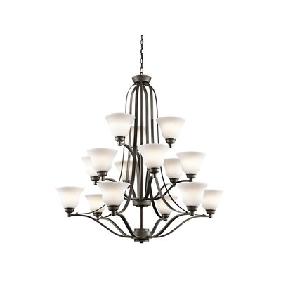 Avilla 15-Light Shaded Chandelier Finish: Olde Bronze