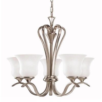 Barile 5-Light Shaded Chandelier Finish: Olde Bronze