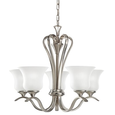 Barile 5-Light Shaded Chandelier Finish: Brushed Nickel
