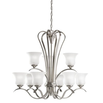 Barile 9-Light Shaded Chandelier Finish: Brushed Nickel