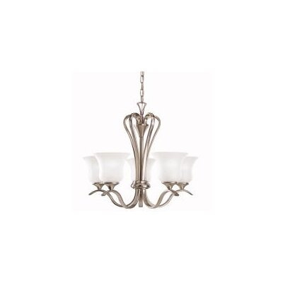 Barile 5-Light Shaded Chandelier Finish: Nickel