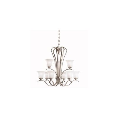 Barile 9-Light Shaded Chandelier Finish: Nickel