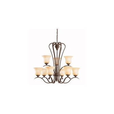 Barile 9-Light Shaded Chandelier Finish: Olde Bronze