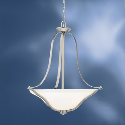 Avilla 3-Light Inverted Pendant Finish: Brushed Nickel