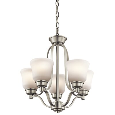 Avilla 5-Light Bowl Pendant Finish: Brushed Nickel