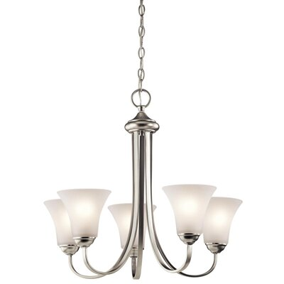 Bourne 3-Light Shaded Chandelier Finish: Brushed Nickel
