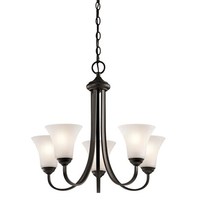 Avery 3-Light Shaded Chandelier Finish: Olde Bronze