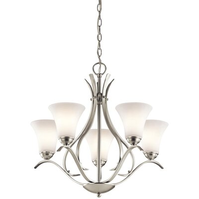 Avery 5-Light Shaded Chandelier Finish: Brushed Nickel