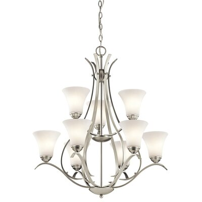Bourne 9-Light Shaded Chandelier Finish: Brushed Nickel