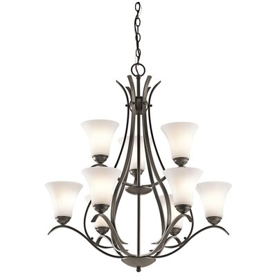Avery 9-Light Shaded Chandelier Finish: Olde Bronze