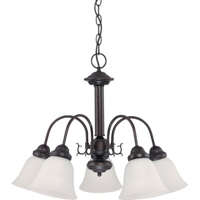 Gurney 5-Light LED Shaded Chandelier Finish: Mahogany Bronze