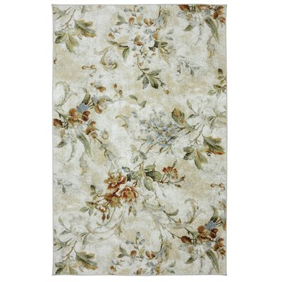 Sisson Ivory/Green Area Rug
