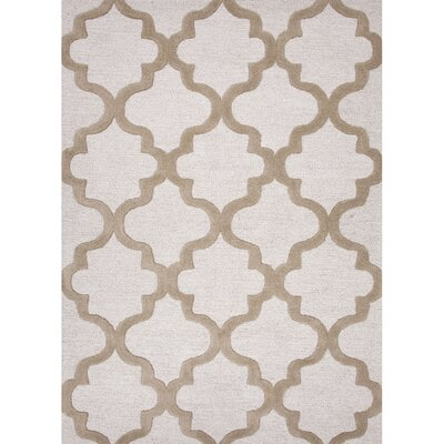 Felix Gray/Ivory Geometric Area Rug Rug Size: Rectangle 5 x 8