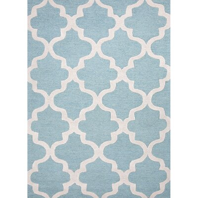 Felix Hand-Tufted Wool Blue/Ivory Area Rug Rug Size: Rectangle 15 x 12
