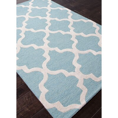 Felix Hand-Tufted Wool Blue/Ivory Area Rug Rug Size: Rectangle 2 x 3