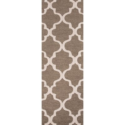 Felix Hand-Tufted Wool Beige/Brown Area Rug Rug Size: Runner 26 x 8
