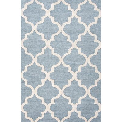 Felix Blue / Ivory Geometric Area Rug Rug Size: Rectangle 36 x 56