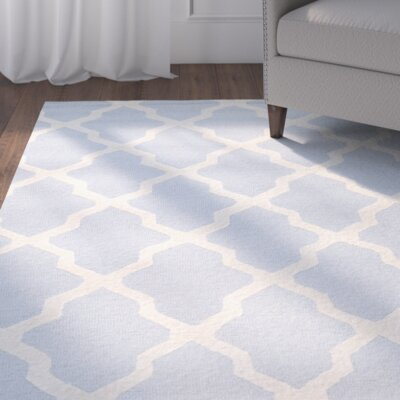 Alcott Hill Sugar Pine Hand-Tufted Blue/Ivory Area Rug