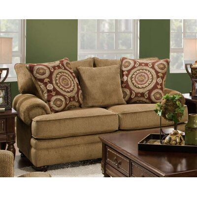 Westerville Twill Sofa Upholstery: Green
