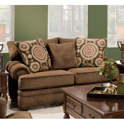 Westerville Twill Sofa Upholstery: Chocolate