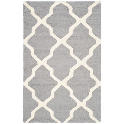 Sugar Pine Hand-Tufted Gray Area Rug Rug Size: 3 x 5