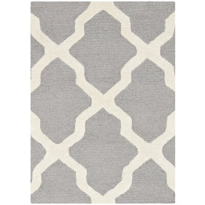 Sugar Pine Hand-Tufted Gray Area Rug Rug Size: 2 x 3