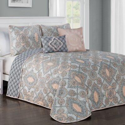 Fillmore 5 Piece Quilt Set Size: King, Color: Blush