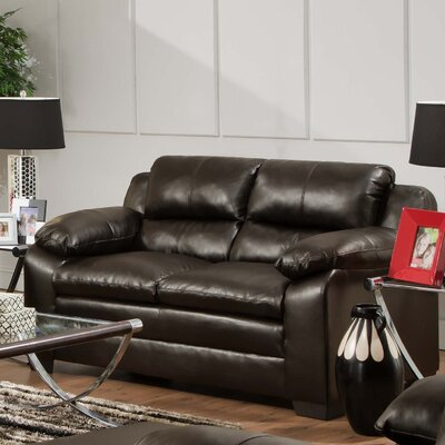 Simmons Upholstery Labarre Loveseat Upholstery: Soho Espresso Bonded Leather Match